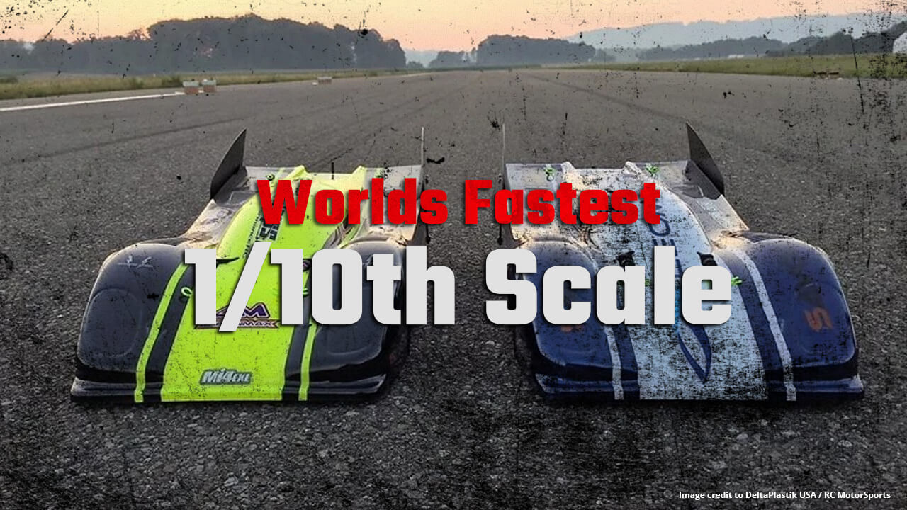 Worlds Fastest RC Speed run 1/10th Scale