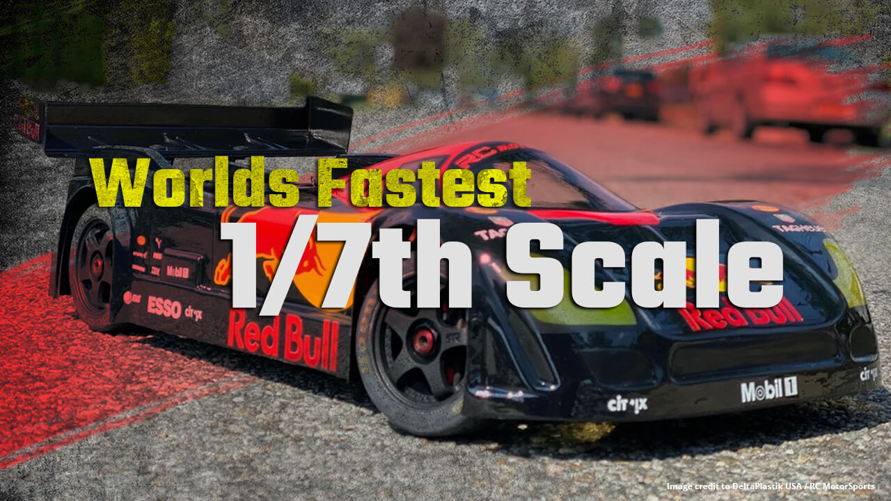 Worlds Fastest RC Speed run 1/7th Scale