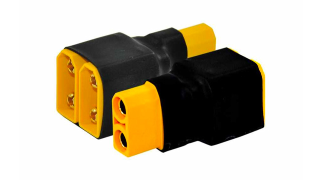 RJXHOBBY XT90 Parallel Series 1 Male to 2 Female Plug Connector Adapter For Battery Charger